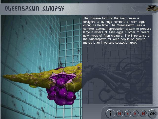 Queenspawn Autopsy - APOCAPEDIA (X-COM Apocalypse UFOPEDIA)